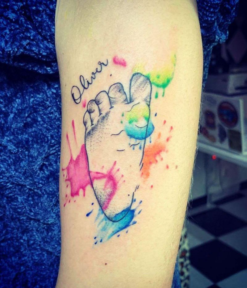 30 Pretty Footprint Tattoos to Inspire You
