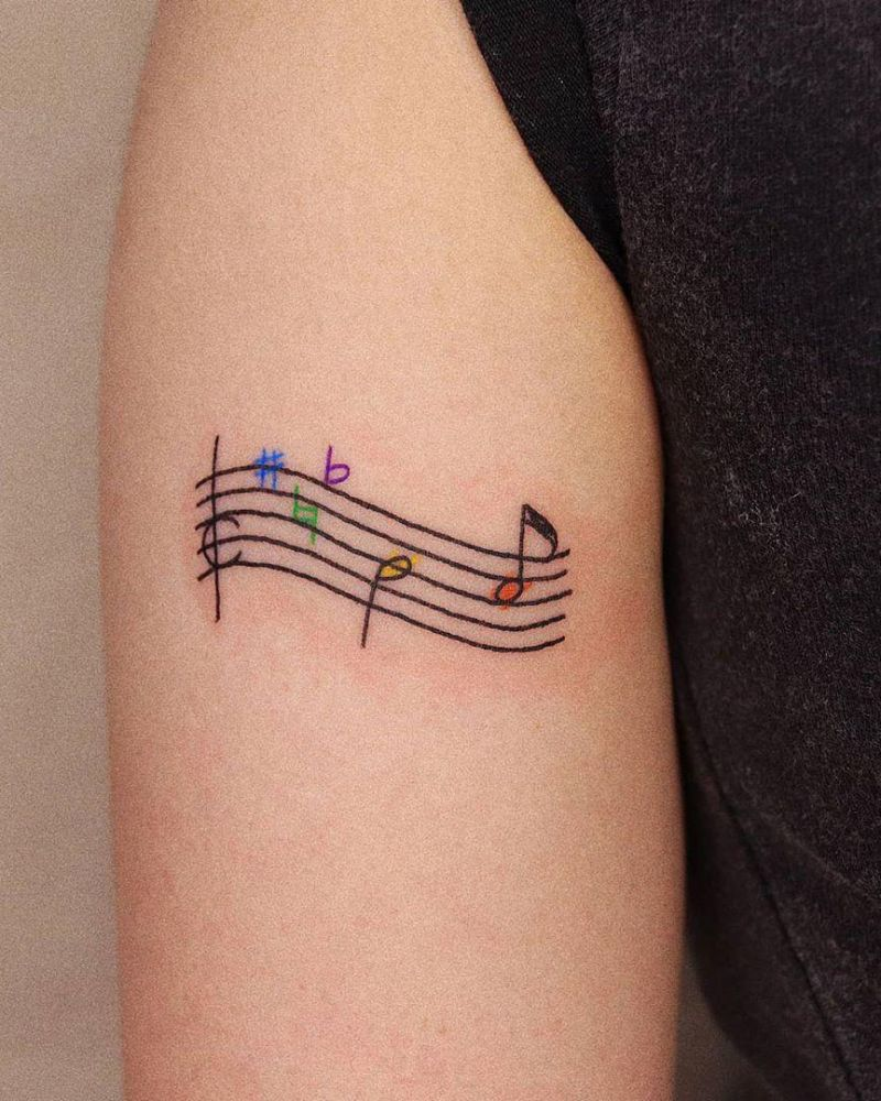30 Unique Music Note Tattoos You Will Love