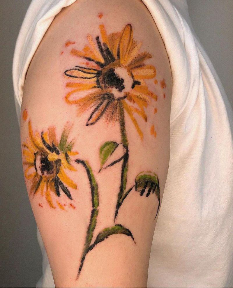 30 Pretty Sunflower Tattoos Improve Your Temperament