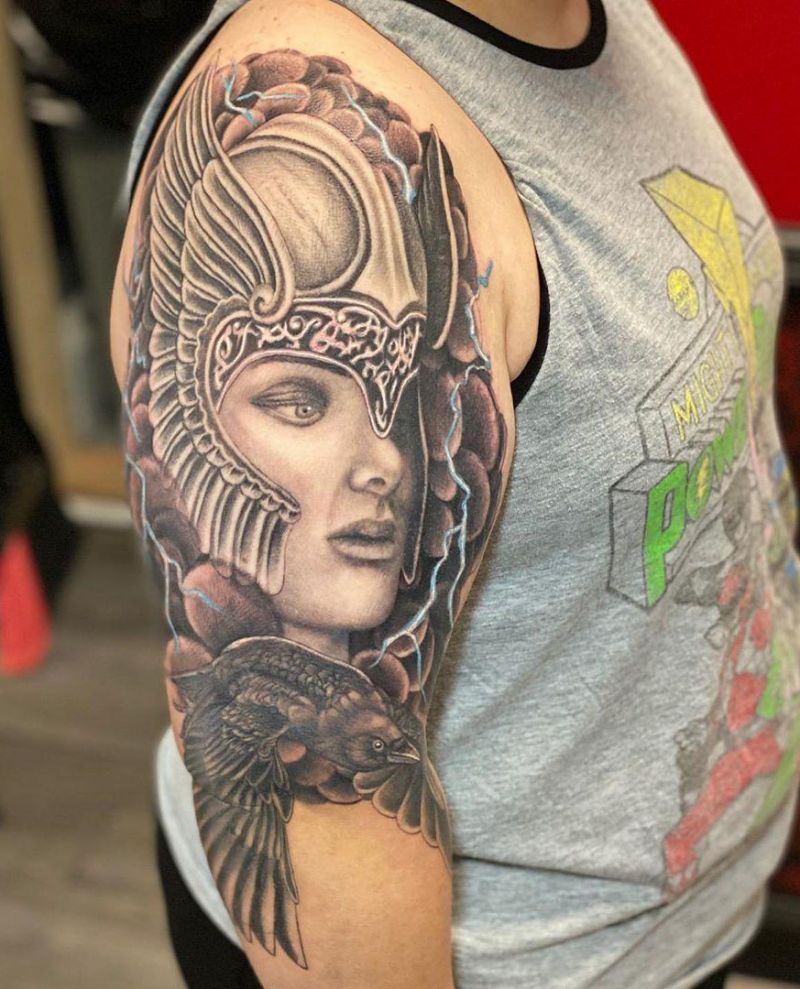 30 Pretty Valkyrie Tattoos to Inspire You