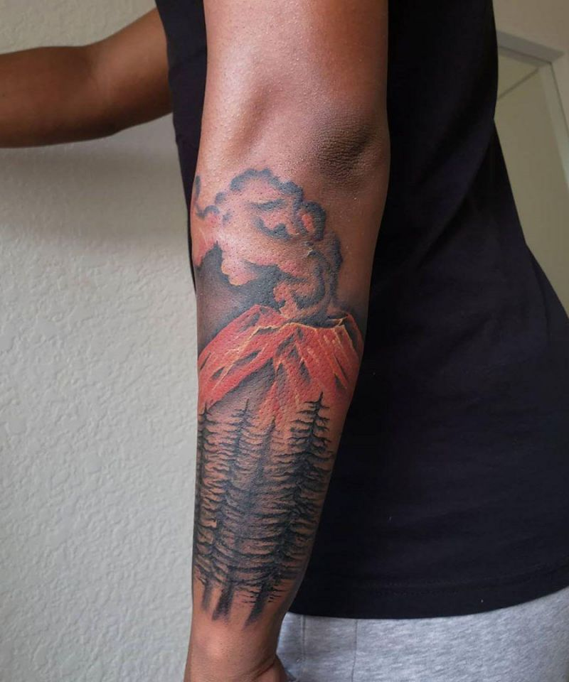 30 Pretty Volcano Tattoos for Inspiration