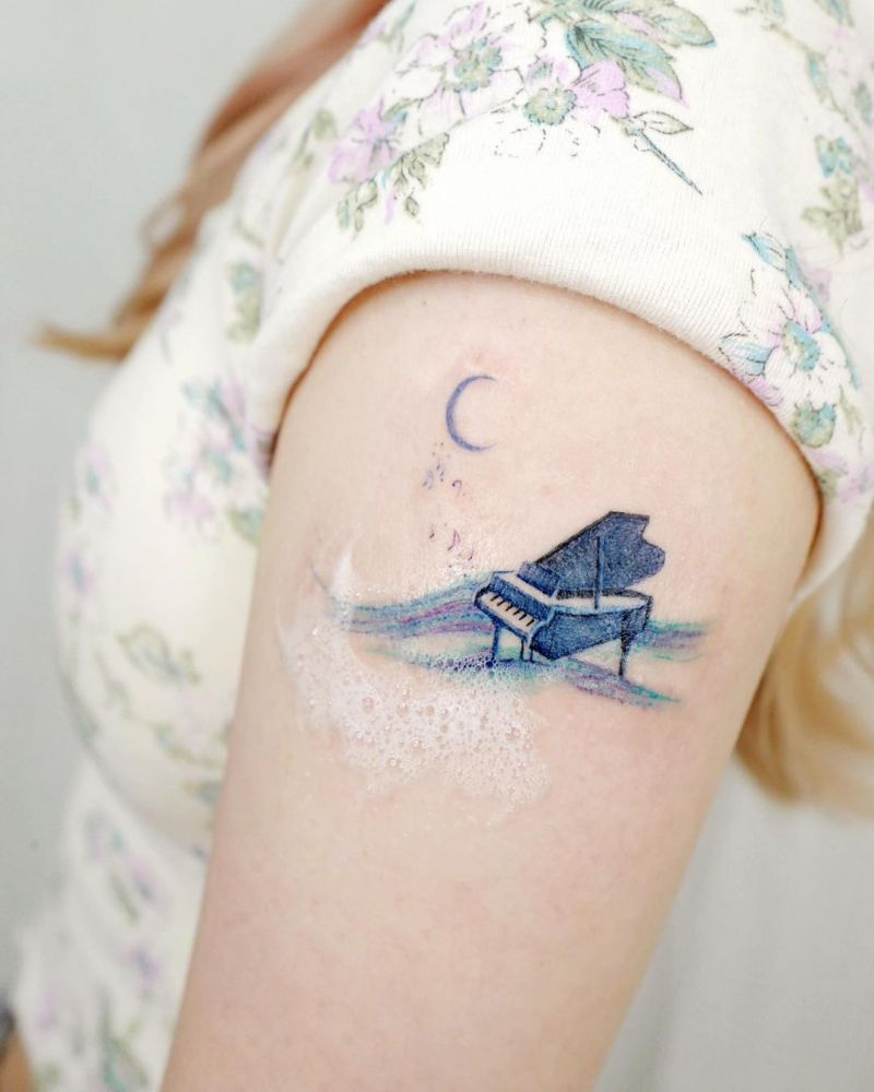 30 Pretty Music Tattoos to Inspire You