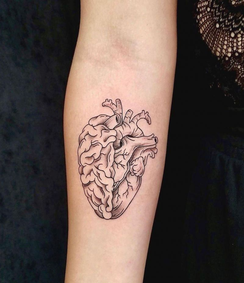 30 Pretty Brain Tattoos Make You Beautiful