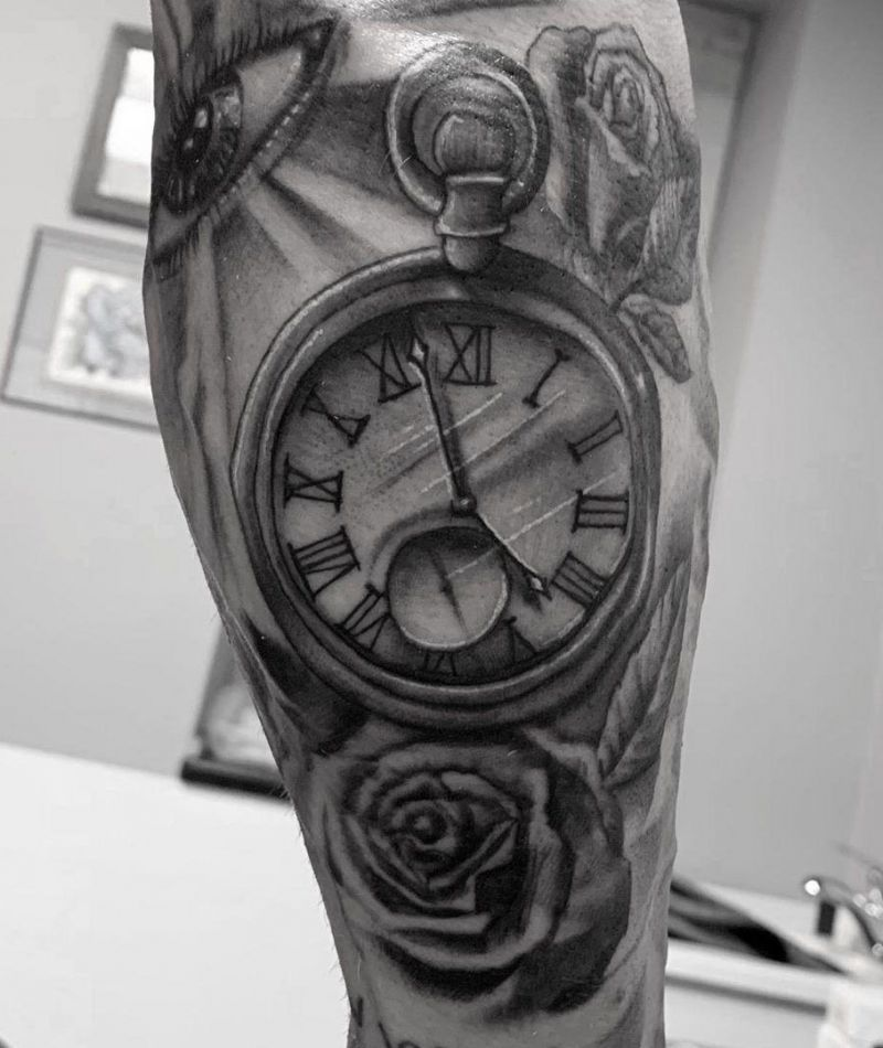30 Pretty Pocket Watch Tattoos You Must Try