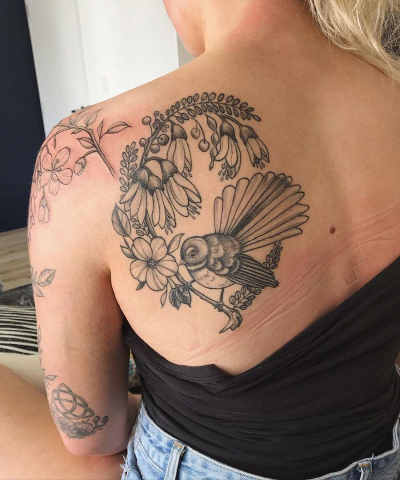 30 Pretty Fantail Tattoos You Must Try