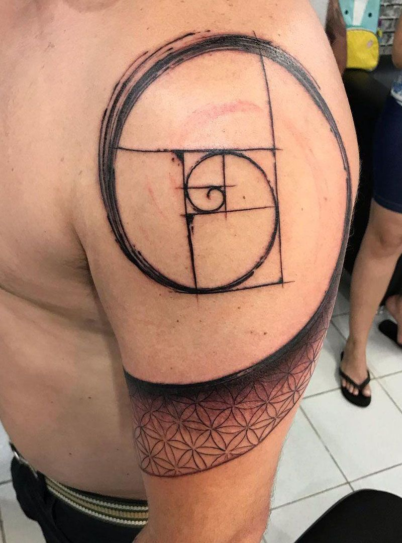 30 Pretty Fibonacci Tattoos You Will Love