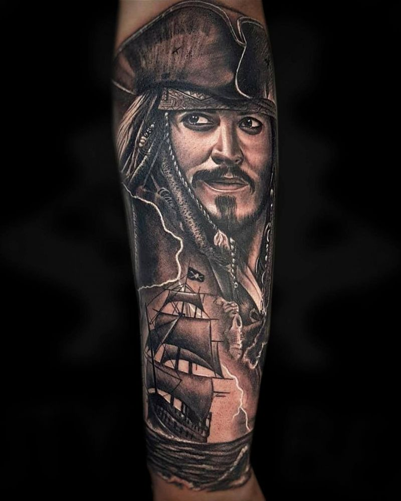 30 Pretty Jack Sparrow Tattoos You Will Love