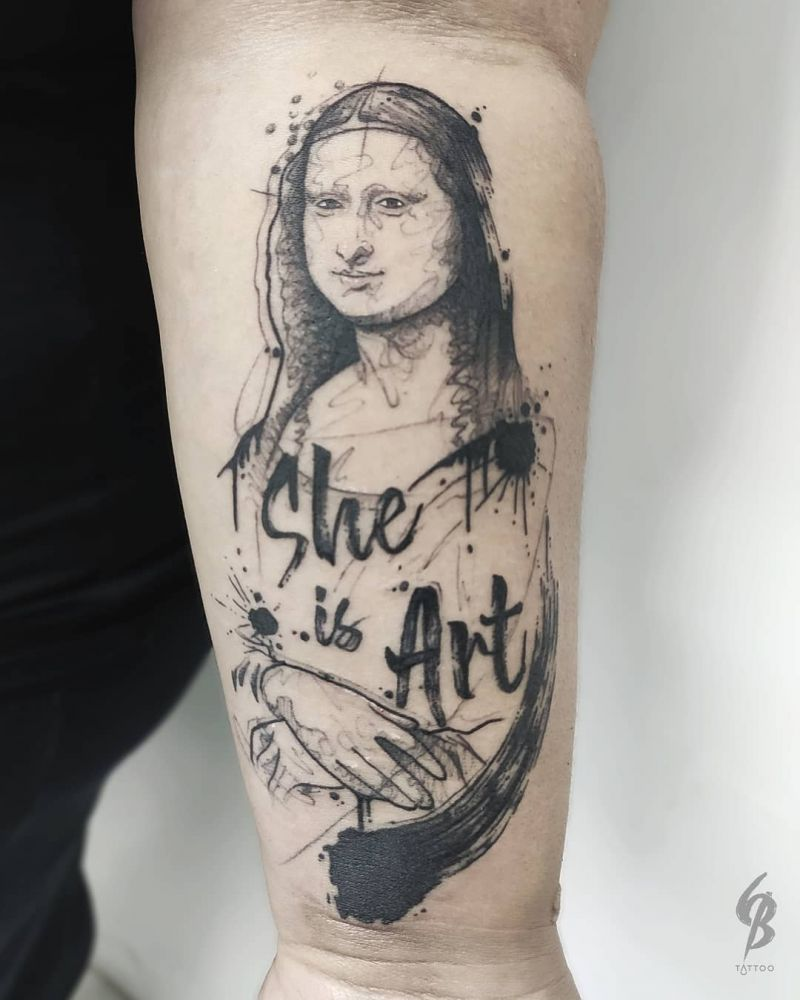 30 Pretty Mona Lisa Tattoos to Inspire You