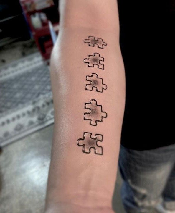 30 Pretty Puzzle Tattoos to Inspire You