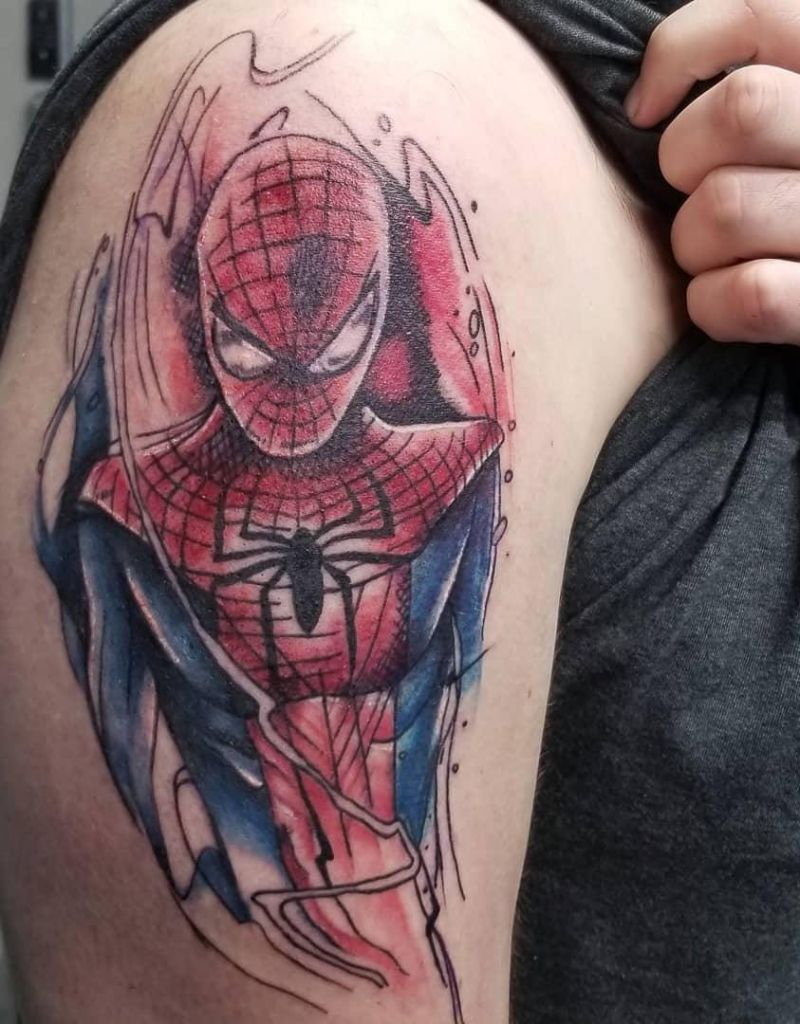 30 Pretty Spiderman Tattoos You Will Love