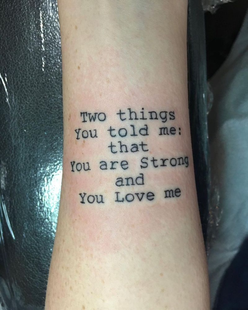 30 Pretty Text Tattoos to Inspire You