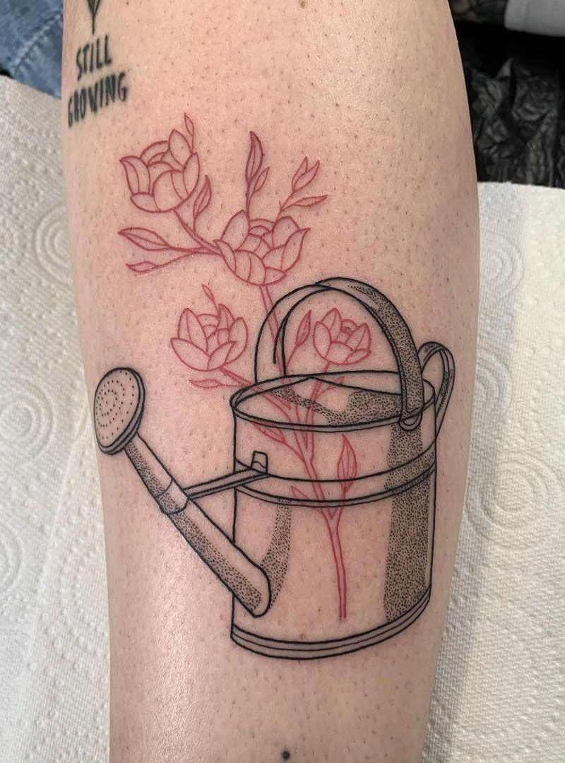 30 Pretty Watering Can Tattoos You Will Love