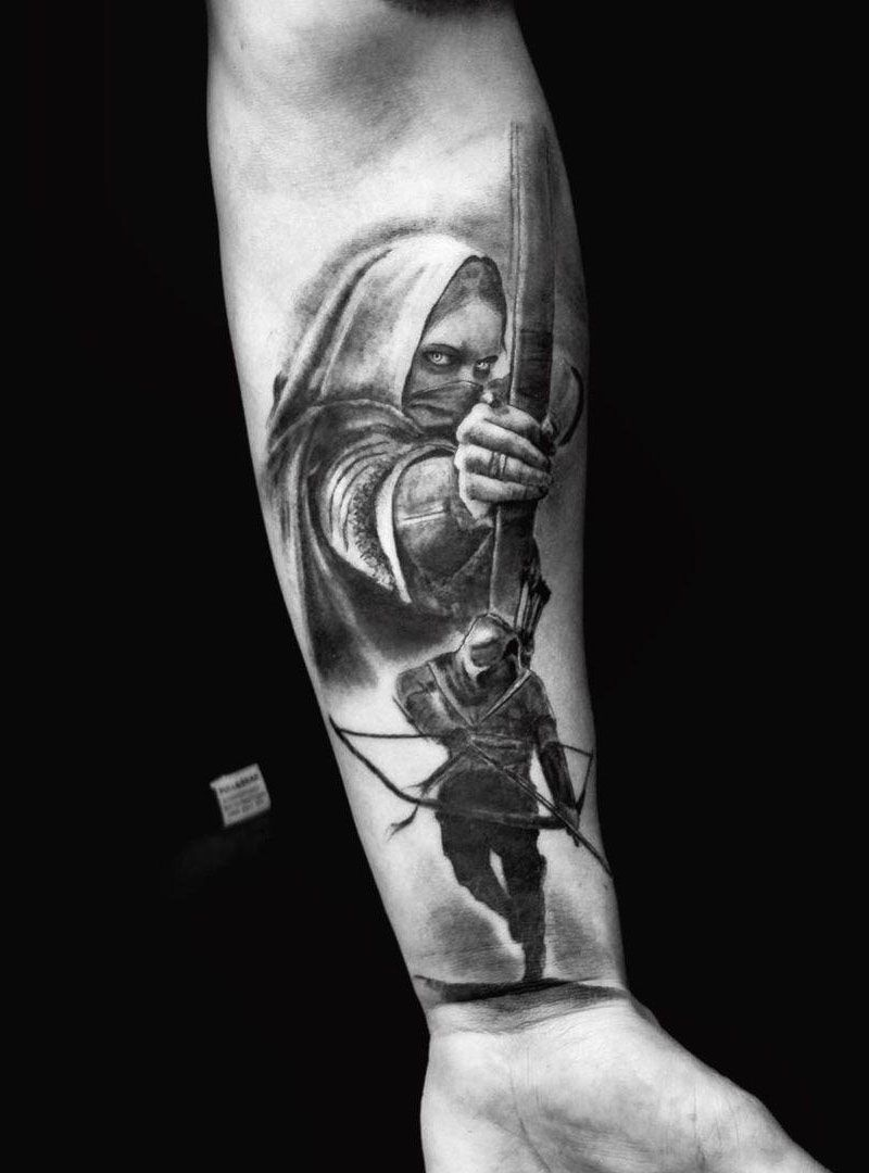 30 Pretty Archer Tattoos You Want to Try