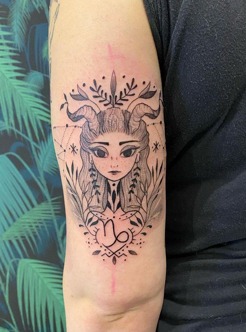 30 Pretty Capricorn Tattoos Give You an Unexpected Feeling