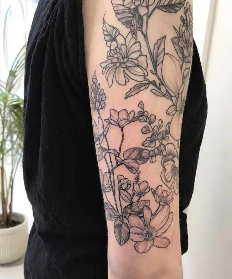 30 Pretty Clematis Tattoos You Must Try