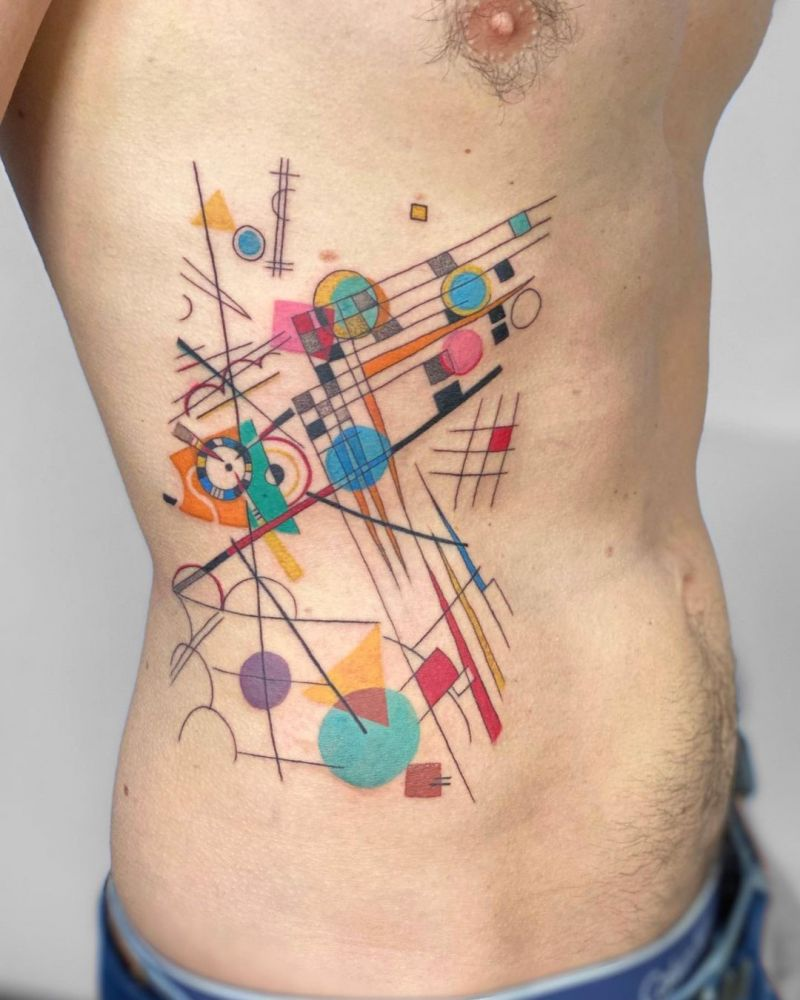 30 Pretty Kandinsky Tattoos to Inspire You