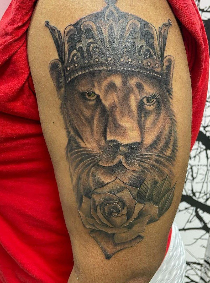 30 Perfect Lioness Tattoos You Will Love