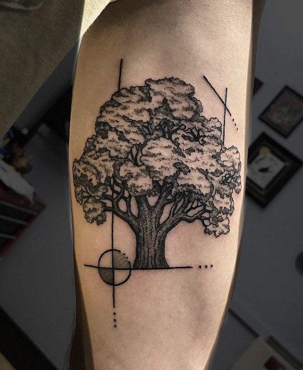 30 Pretty Oak Tree Tattoos You Will Love