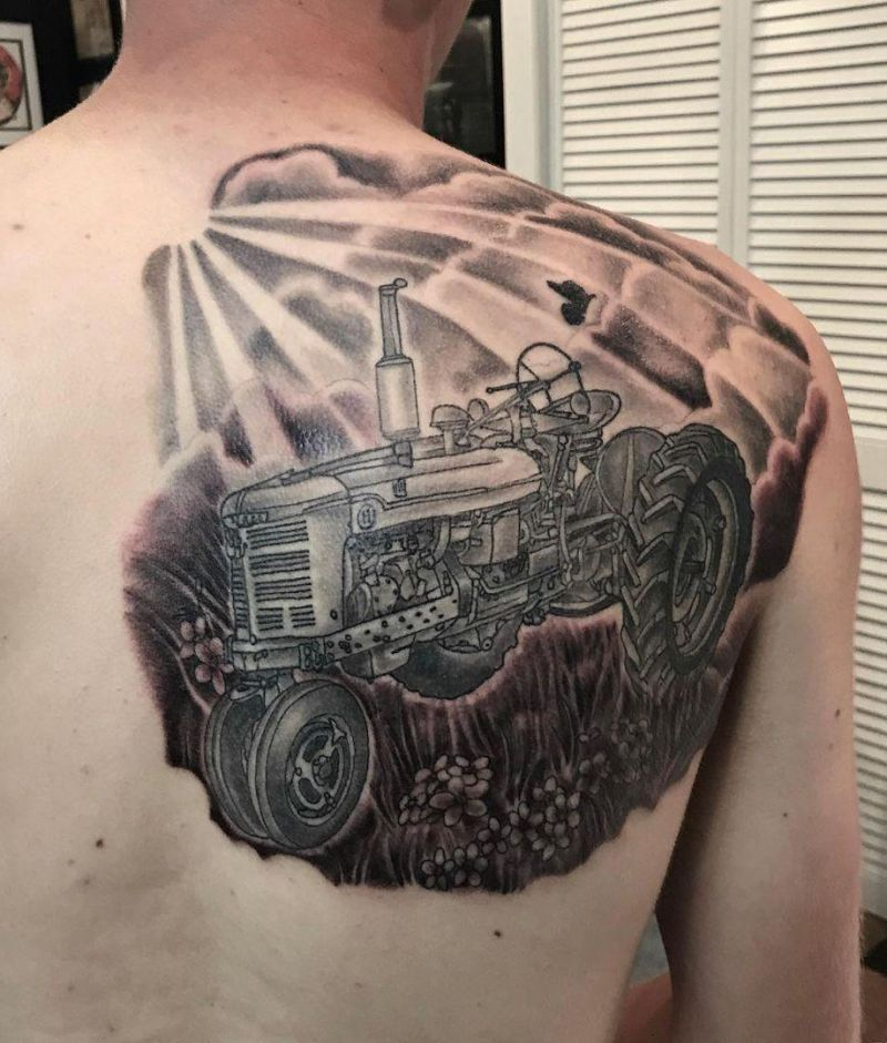 30 Perfect Tractor Tattoos to Inspire You