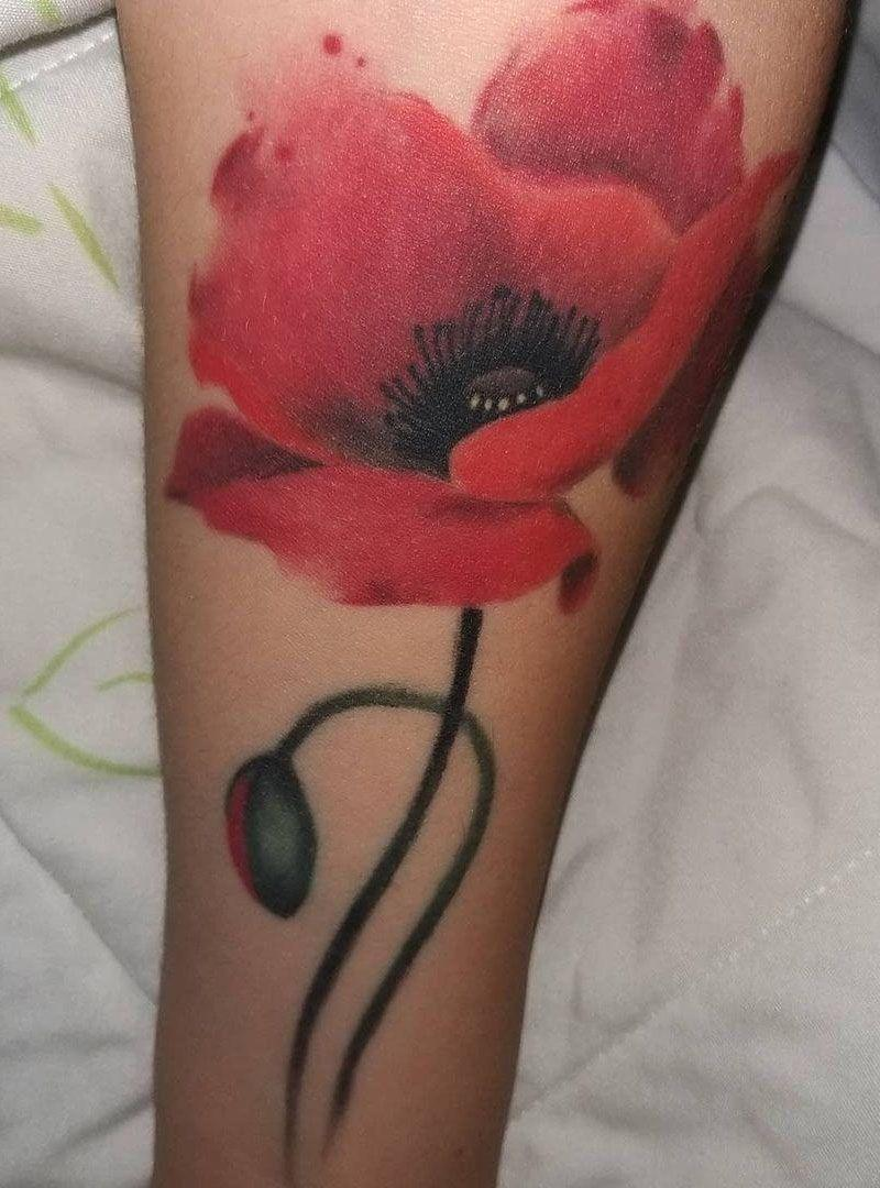 30 Pretty Watercolor Flower Tattoos You Will Love