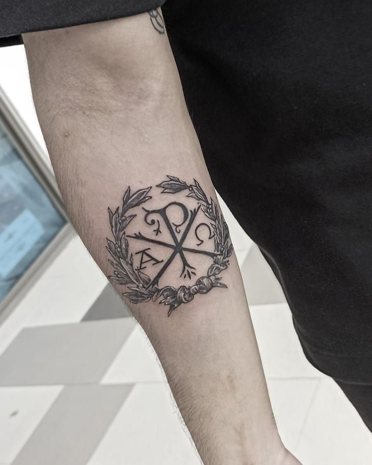 30 Pretty Chi Rho Tattoos You Will Love