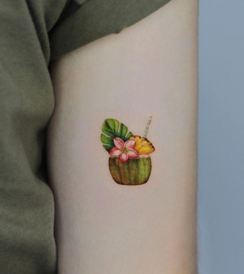 30 Pretty Coconut Tattoos You Must Love