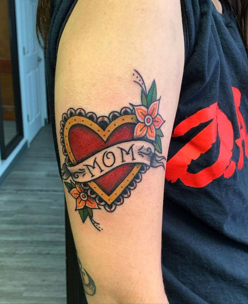 30 Pretty Mom Heart Tattoos You Must Try