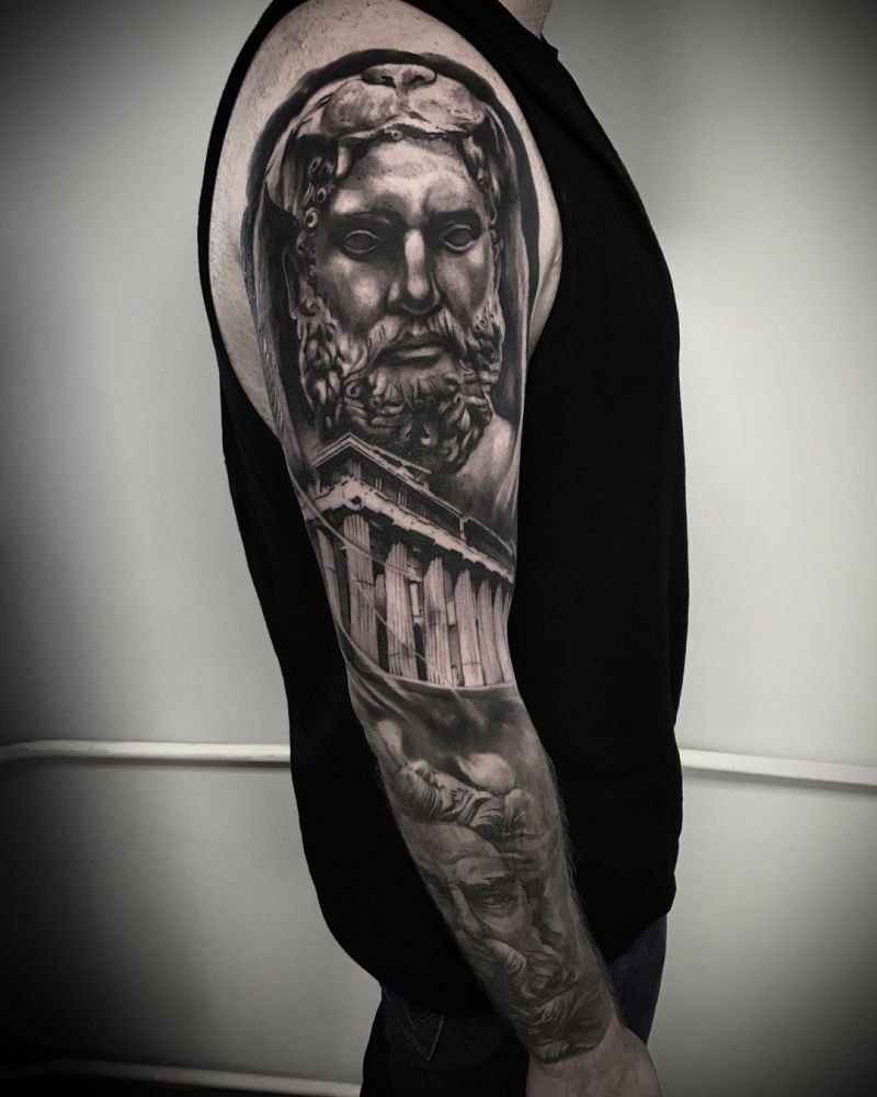 30 Pretty Hercules Tattoos You Will Love