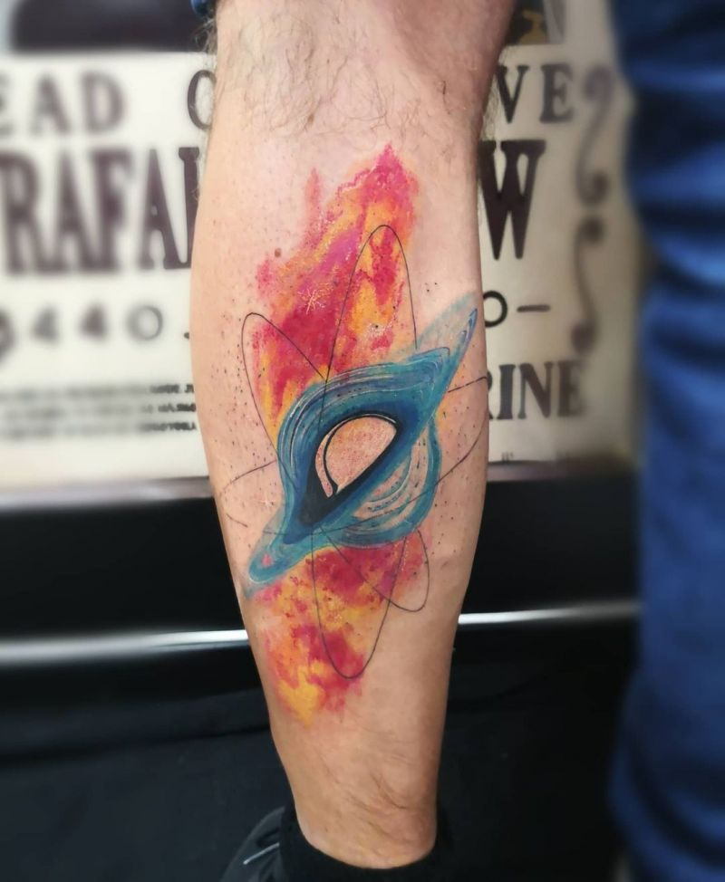 30 Unique Black Hole Tattoos to Inspire You