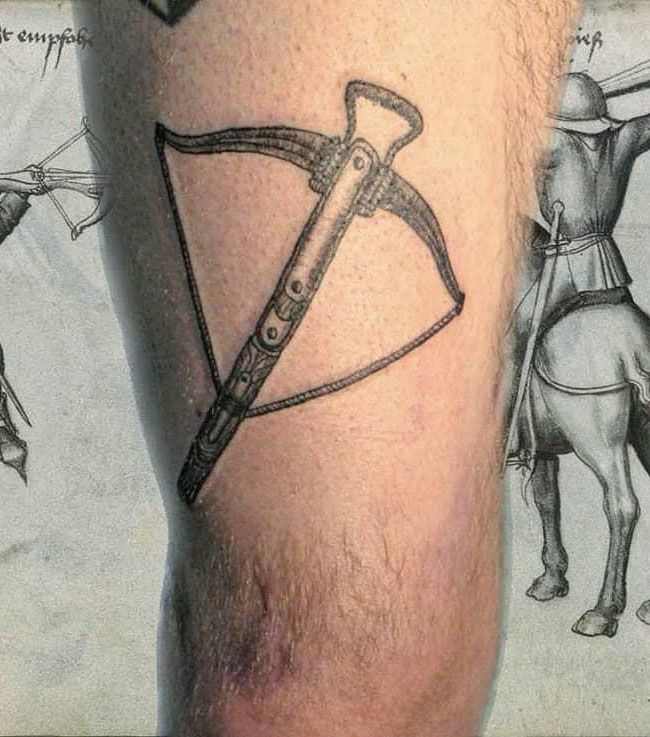 30 Pretty Crossbow Tattoos Make You Brave