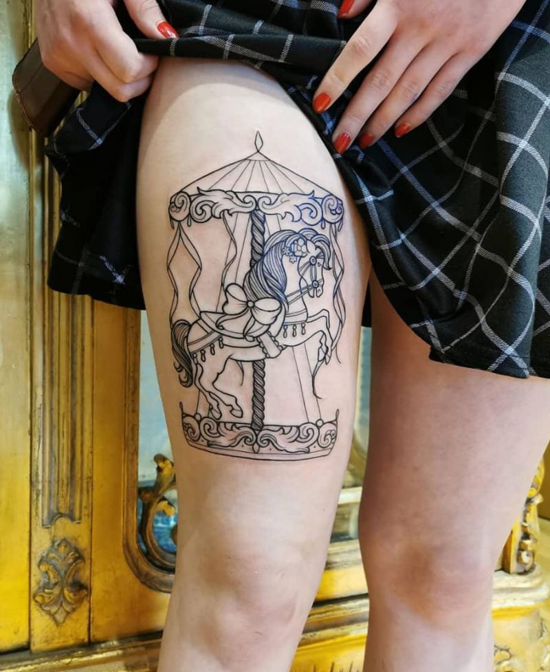 30 Perfect Carousel Tattoos You Must Love