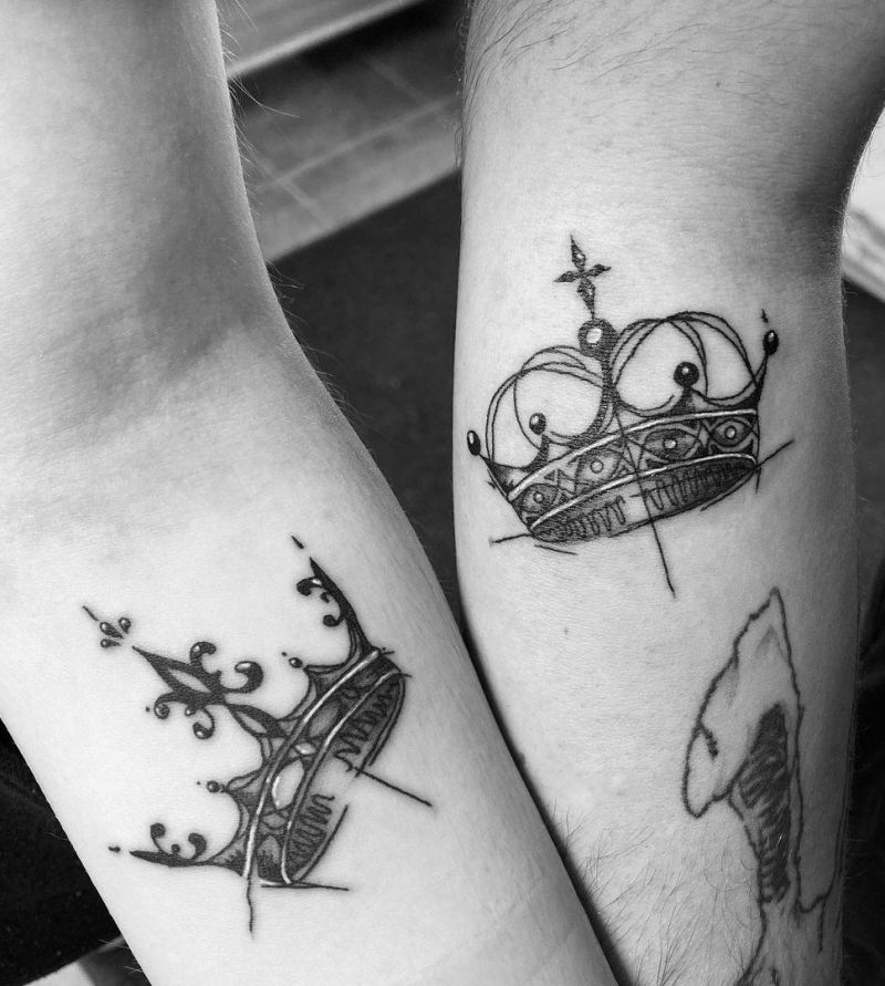 30 Noble King and Queen Tattoos You Should Not Miss