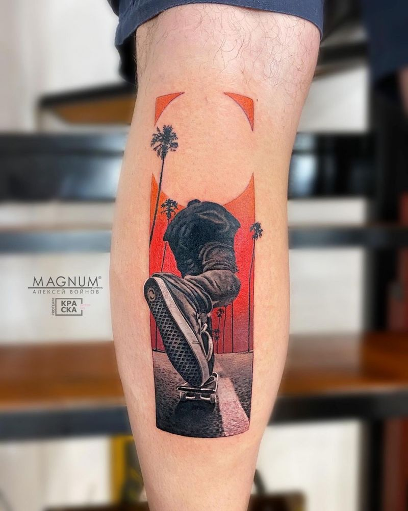 30 Creative Skateboard Tattoos You Can Copy