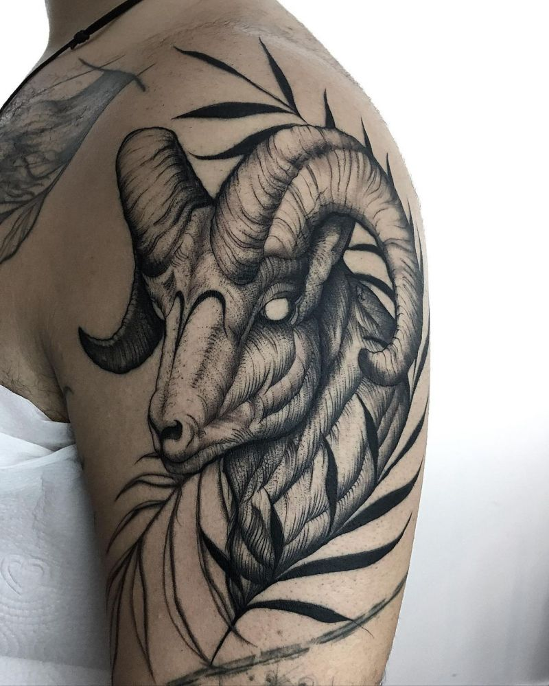 30 Pretty Ram Tattoos to Inspire You