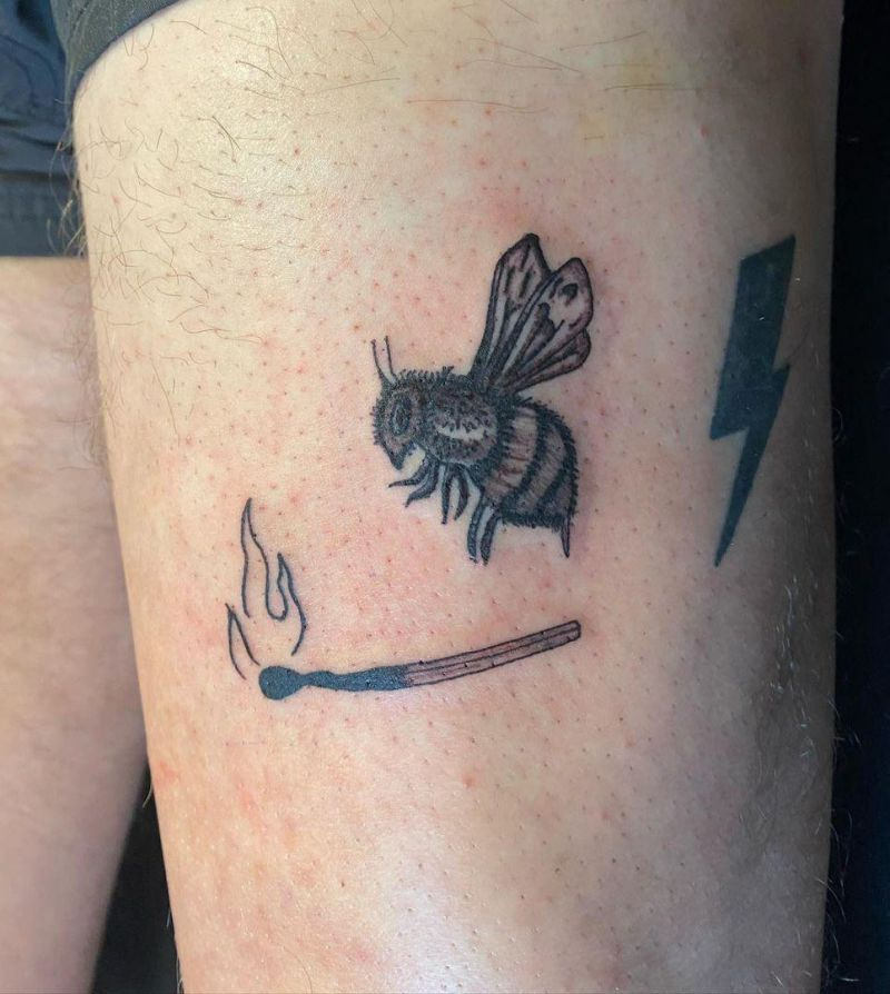 30 Pretty Match Tattoos You Must Try