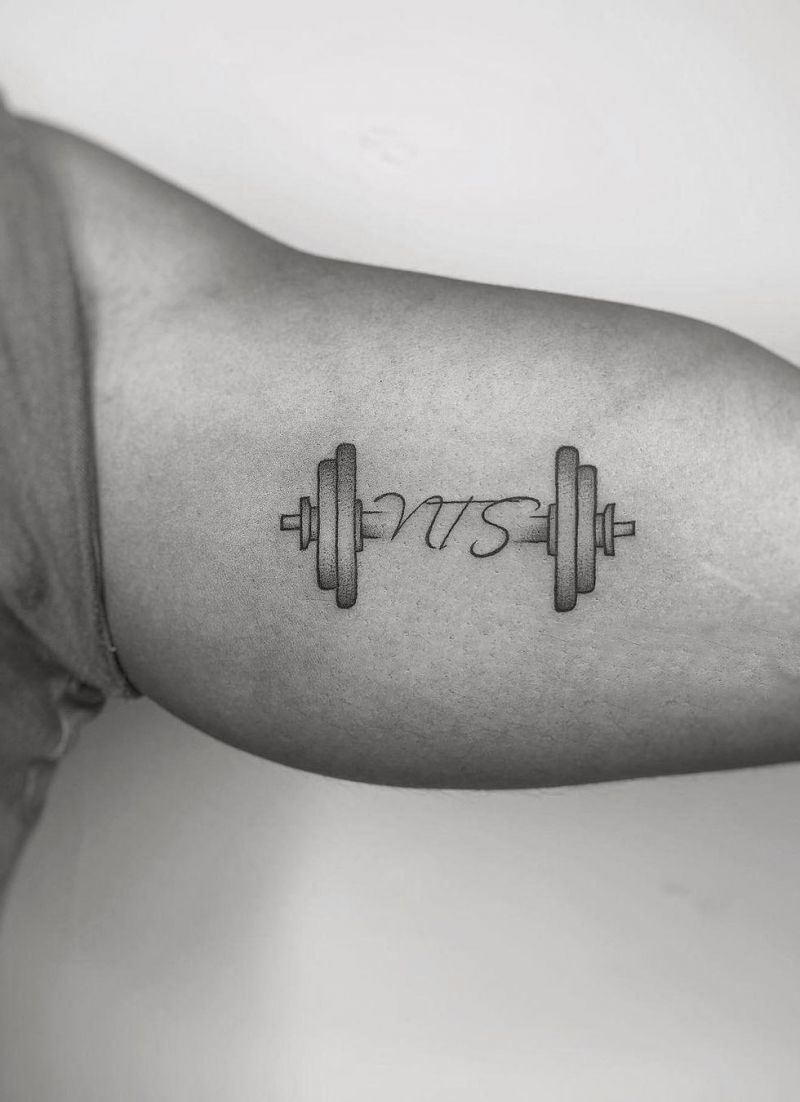 30 Powerful Barbell Tattoos You Should Not Miss