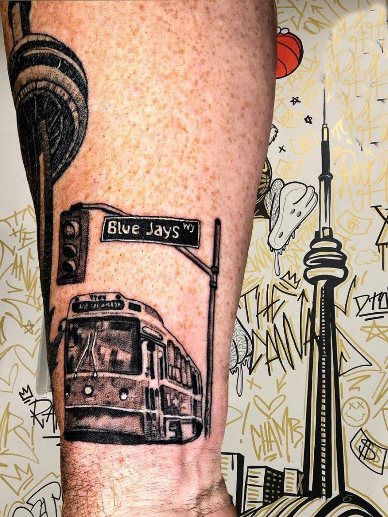 24 Pretty Street Sign Tattoos to Inspire You