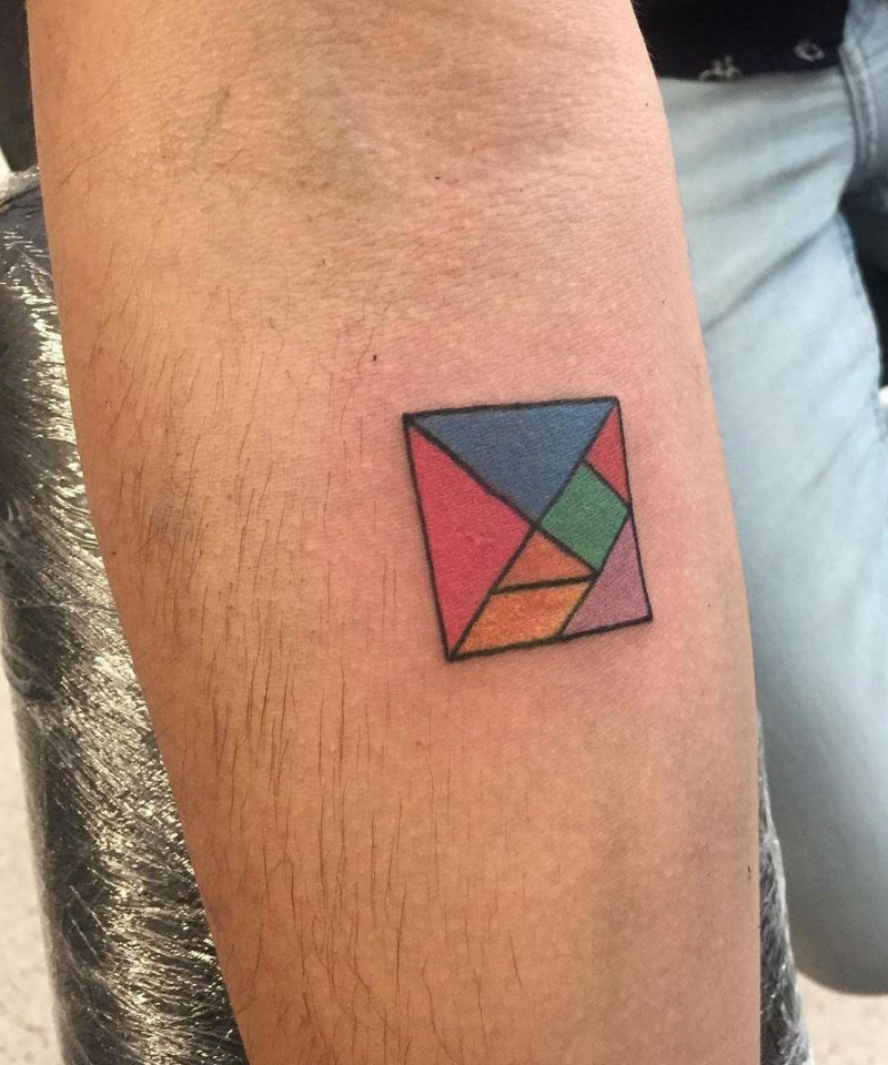 10 Pretty Tangram Tattoos You Must Try