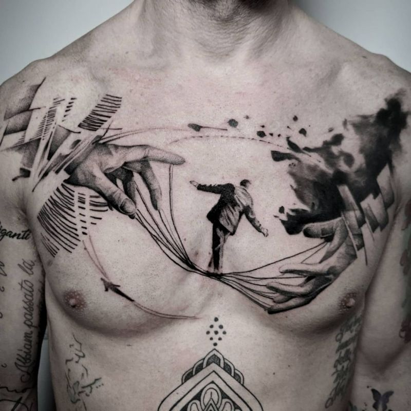 30 Tightrope Walker Tattoos Make You Attractive