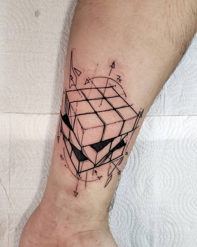 30 Great Rubik's Cube Tattoos You Can Copy
