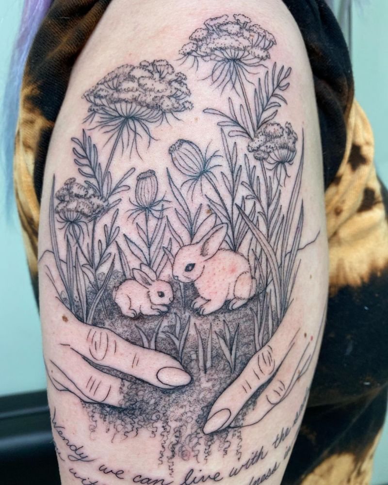30 Pretty Garden Tattoos You Must Love
