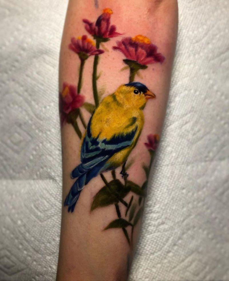 30 Cute Finch Tattoos You Must Love