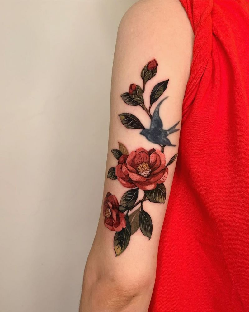 30 Pretty Camellia Tattoos You Must Love