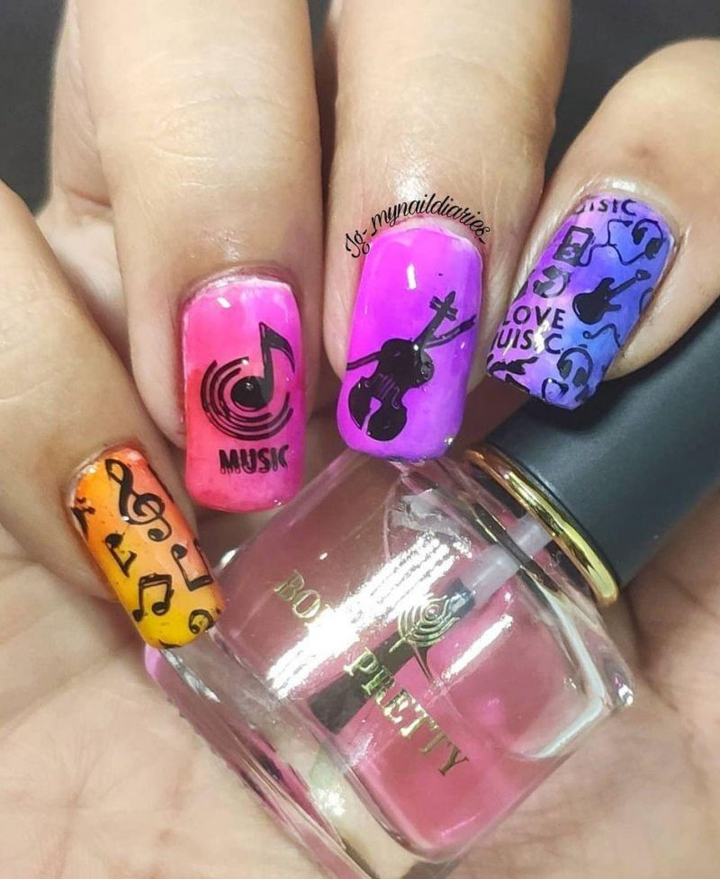 30 Gorgeous Music Nail Art Designs You Must Love