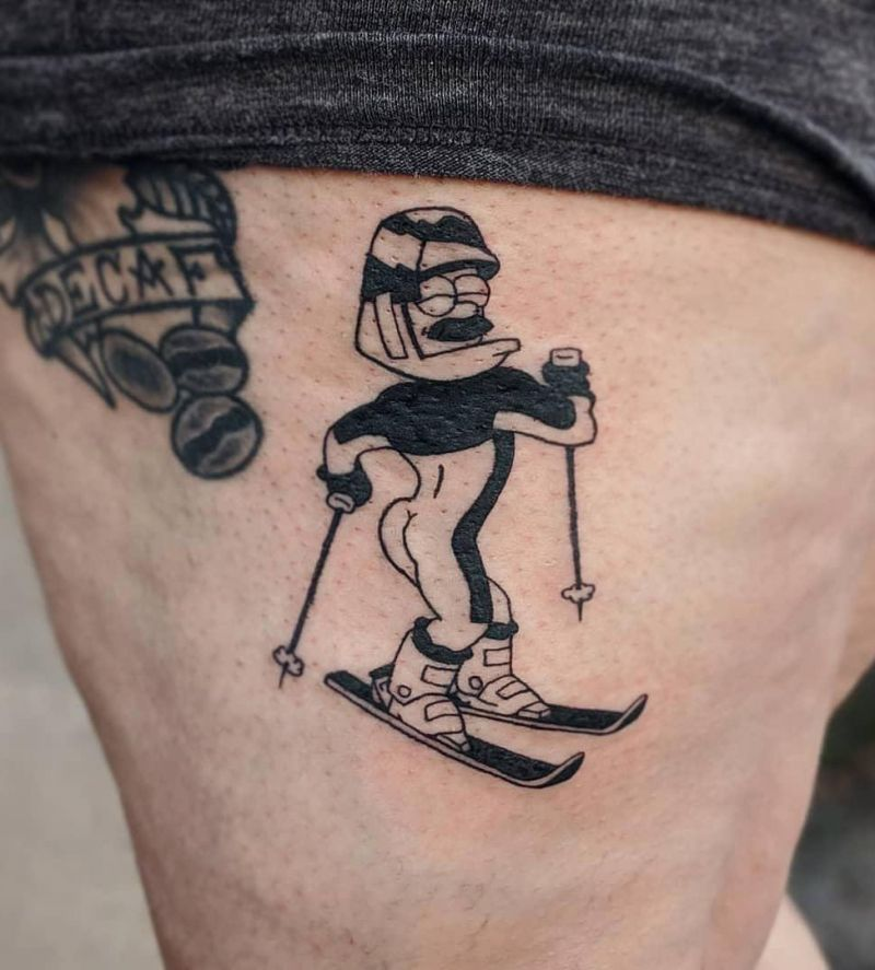 30 Pretty Skiing Tattoos You Must Try