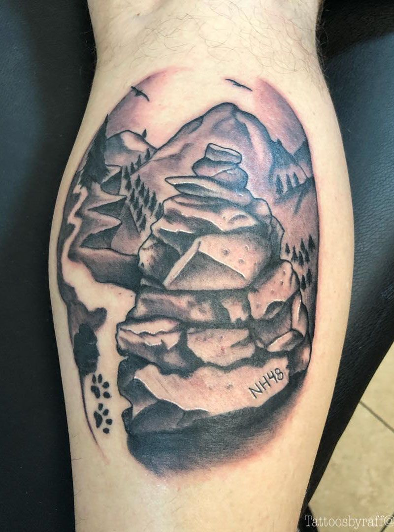 30 Unique Cairn Tattoos for Your Inspiration
