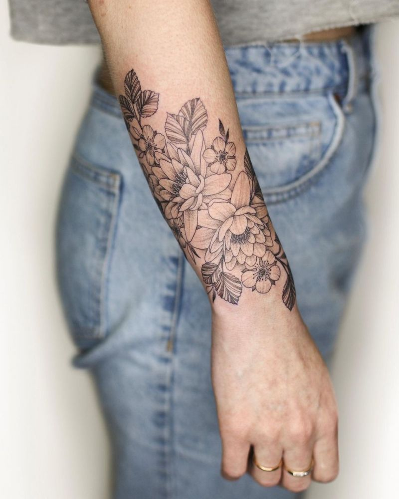 30 Perfect Water Lily Tattoos Make You Attractive
