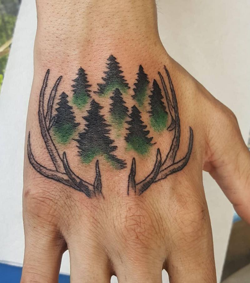 30 Pretty Antler Tattoos to Inspire You