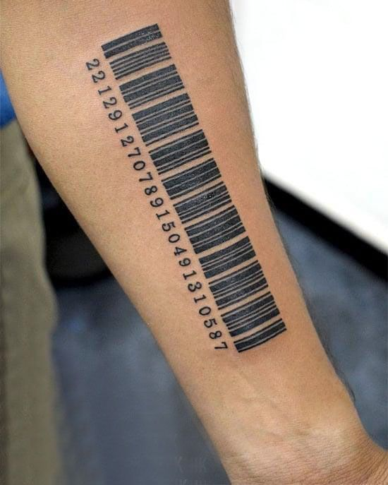 30 Unique Barcode Tattoos You Can Copy