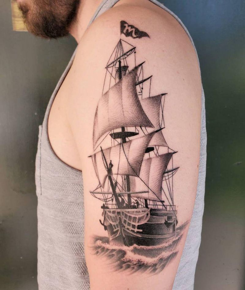30 Gorgeous Clipper Tattoos You Can't Miss